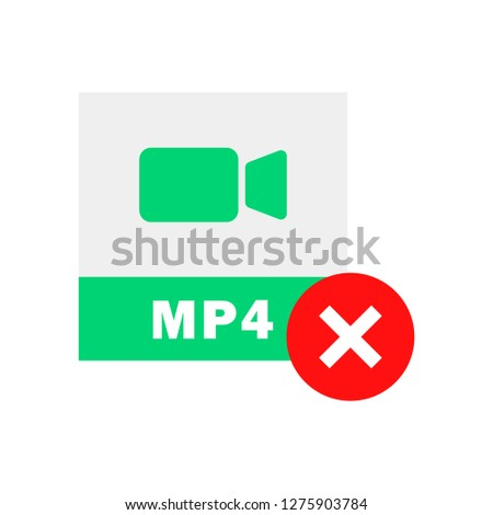 MP4 Delete icon