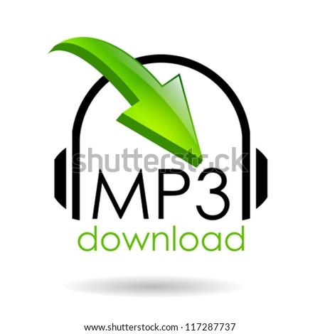 Mp3 download vector symbol