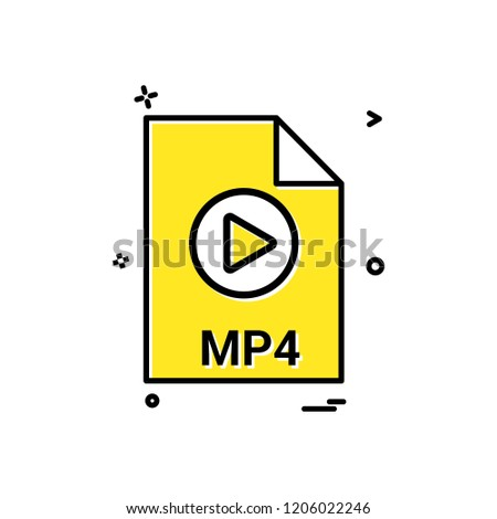 mp4 file file extension file format icon vector design