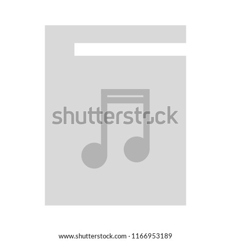 mp3 file - flat Vector icon - illustration of music player icon isolated on white