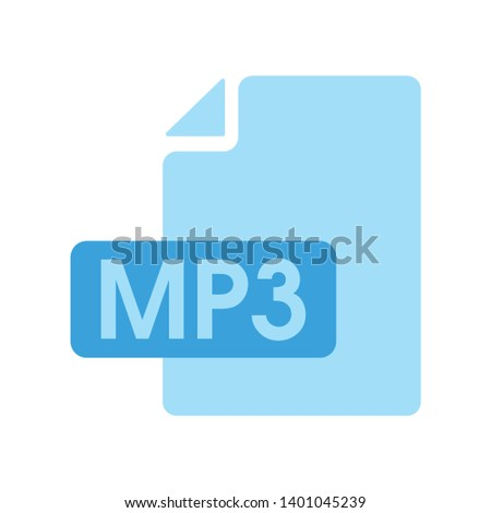 Mp3 file format icon. flat style sign for mobile concept and web design. music document simple vector icon. Symbol, Mp3 music format icon. Musical button.