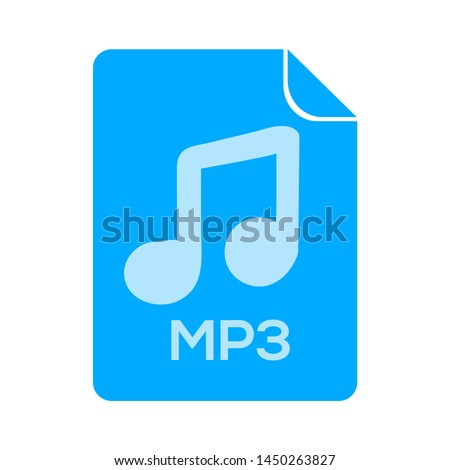 mp3 file icon. Logo element illustration. mp3 file design. colored collection. mp3 file concept. Can be used in web and mobile Stock photo ©