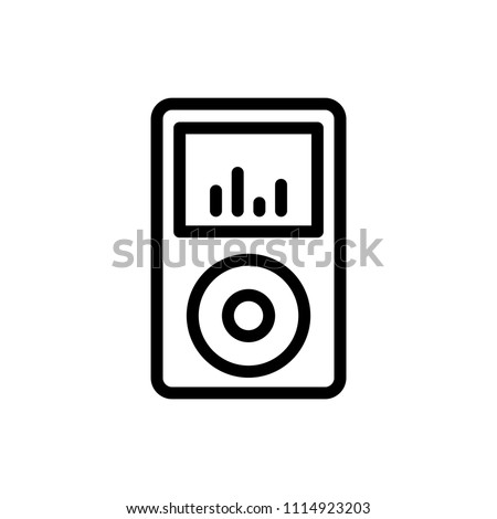 MP3 flat icon. Single high quality outline symbol of info for web design or mobile app. Thin line signs for design logo, visit card, etc. Outline logo of graphic MP3