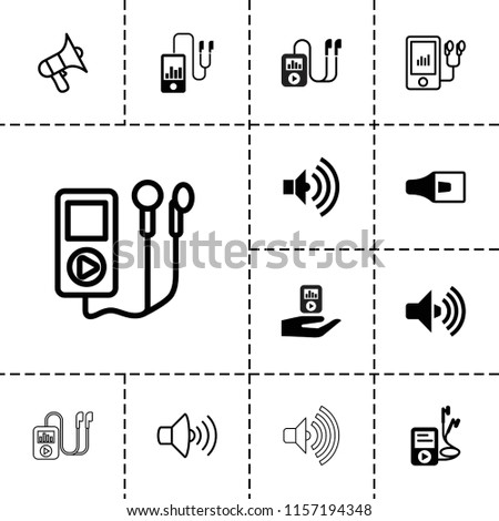Mp3 icon. collection of 13 mp3 filled and outline icons such as . editable mp3 icons for web and mobile.