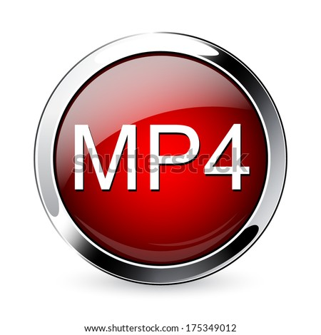 MP4 icon. Format VIDEO