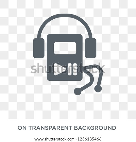 Mp3 icon. Mp3 design concept from  collection. Simple element vector illustration on transparent background.