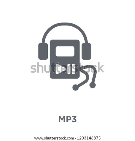 Mp3 icon. Mp3 design concept from  collection. Simple element vector illustration on white background.