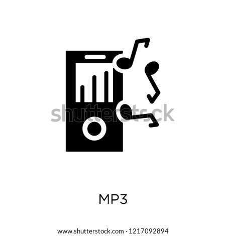 Mp3 icon. Mp3 symbol design from Music collection. Simple element vector illustration on white background.