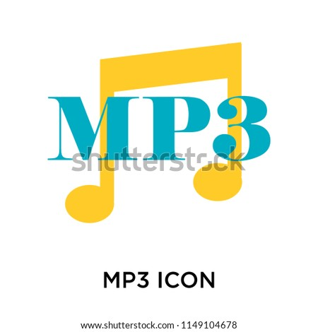 Mp3 icon vector isolated on white background for your web and mobile app design, Mp3 logo concept