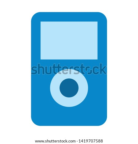 mp3 player icon. flat illustration of mp3 player vector icon for web
