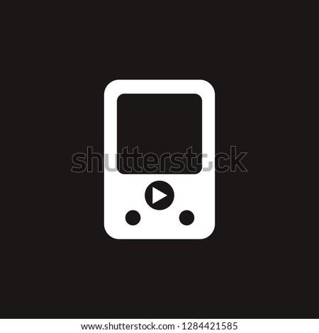 mp3 player icon. mp3 player vector design. sign design