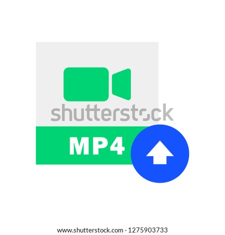 MP4 Upload icon