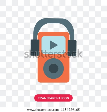 Mp3 vector icon isolated on transparent background, Mp3 logo concept