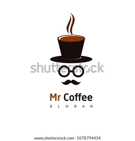 mr coffee logo  cafe icon