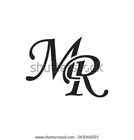 MR Initial Monogram Logo 343066001