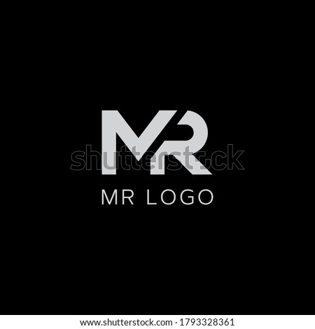 MR logo design. Vector illustration. Stok fotoğraf ©