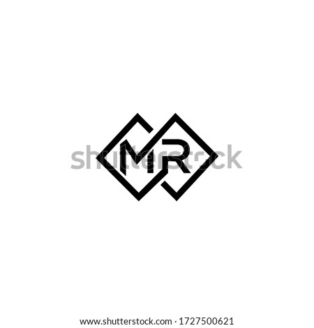 MR M R Letter Logo Design Template Stock fotó ©