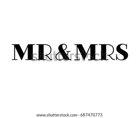 Mrt download vetores e grficos gratuitos mr mrs wedding hand written lettering wedding decoration mister and mrs for wedding junglespirit Gallery