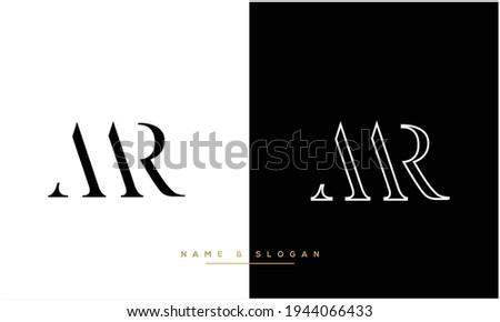 MR ,RM Abstract Letters Logo Monogram Stok fotoğraf ©