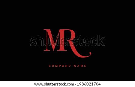 MR, RM Alphabet Letters Logo Monogram Stok fotoğraf ©