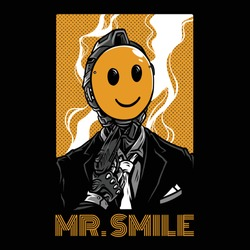 Mr Smile Neon Series Illustration