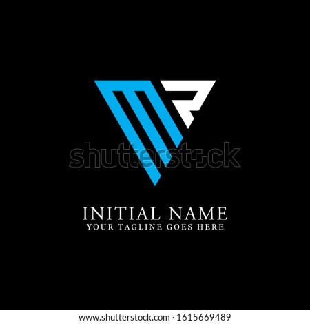 MR triangle logo designs, MR initial logo inspiration idea Stock fotó ©