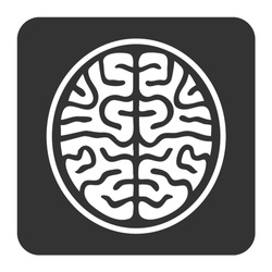 MRI brain ct scan flat vector icon for medical apps and websites