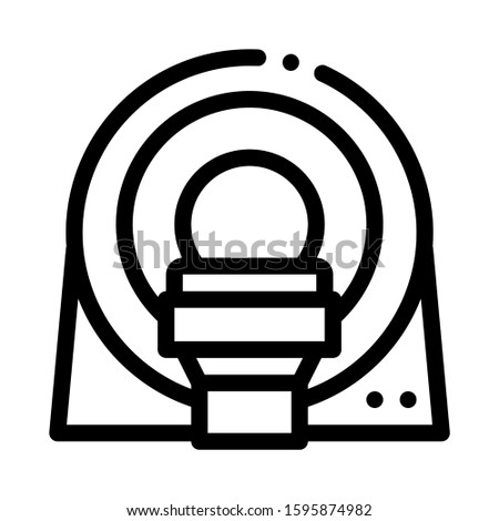 Mri Diagnosis Apparatus Icon Vector. Outline Mri Diagnosis Apparatus Sign. Isolated Contour Symbol Illustration