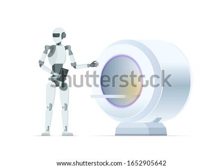 mri scan machine controlled by