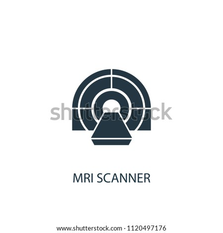 MRI scanner creative icon. Simple element illustration. MRI scanner concept symbol design from medical collection. Can be used for web and mobile.