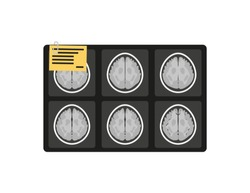 MRI x-ray brain picture in flat style