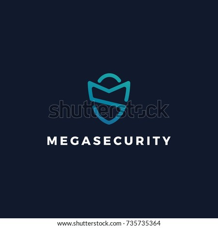MS Security Guard Logo Icon, Letter MS, SM Protection logo concept template