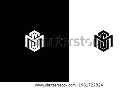 MS ,SM ,MSO, MOS letters abstract logo monogram Stock fotó ©