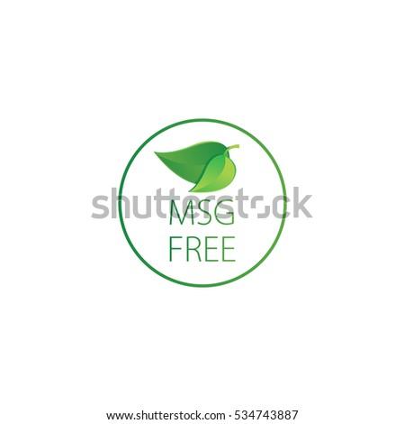 msg free    vector illustration