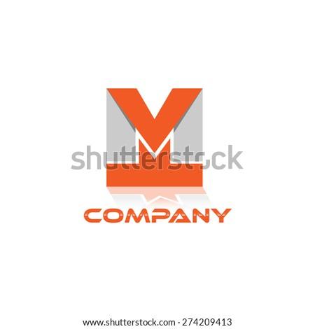 MT company linked letter logo  Stock fotó ©