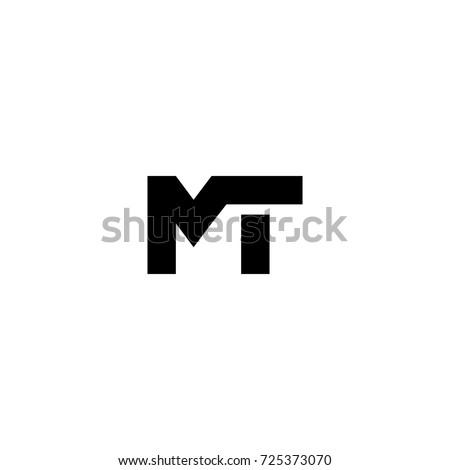 mt letter logo vector Stock fotó ©
