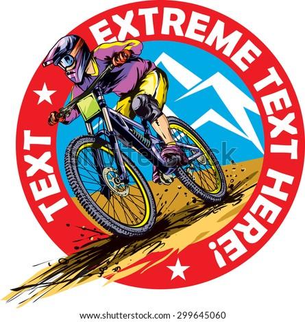 mtb downhill rider