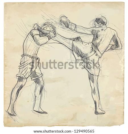 muay thai  combat martial art