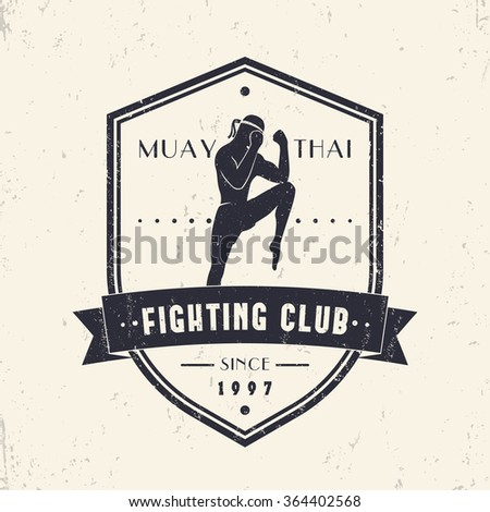 muay thai fighting club vintage