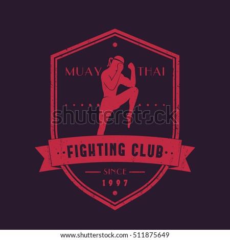muay thai fighting club vintage