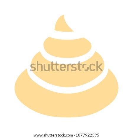 Muffin - cupcake illustration, vector dessert - delicious sweet, bakery symbol