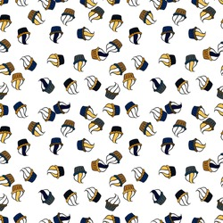 Muffin. Seamless.Cupcake vector pattern. Happy birthday cupcake background in blue, black and white. Cupcake pattern background. Vector illustration.