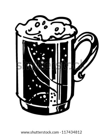 Mug Of Beer - Retro Clipart Illustration