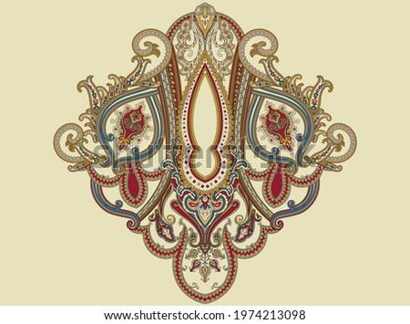 Mughal Art, Indian style motif