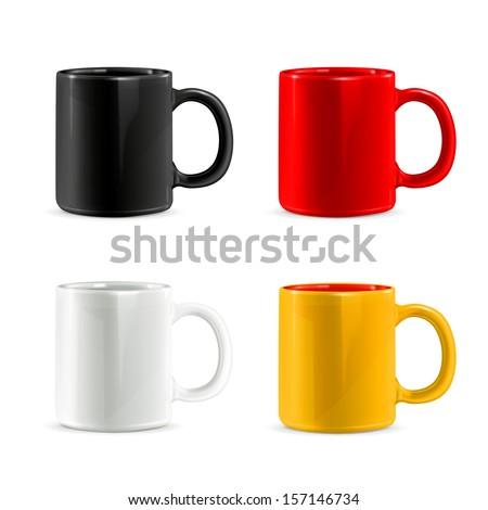 Shutterstock Mugs vector set