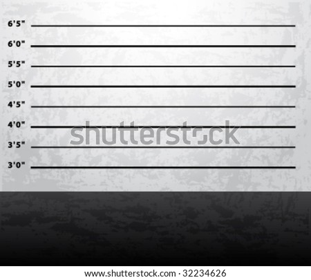 Mugshot prison background vector