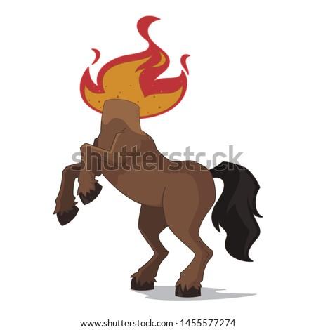 Mula - headless mule, brazilian folklore character