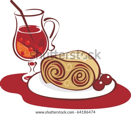 Mulled wine and strudel