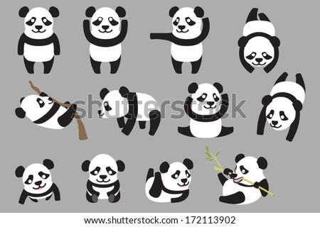 multi action baby panda