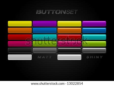 multi colored button set in two